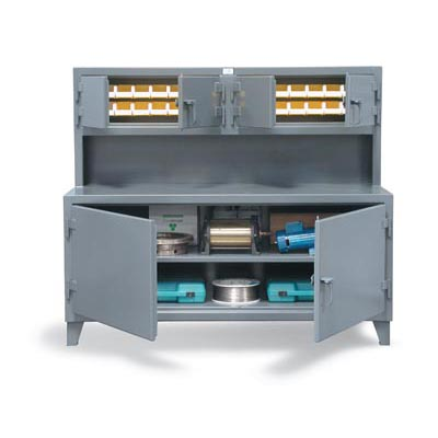 65-UC-301-28B, Workstation with Upper Bin Compartments
