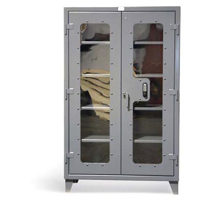 46-LD-244-KP, Clear View Cabinet with Keypad, 48'W