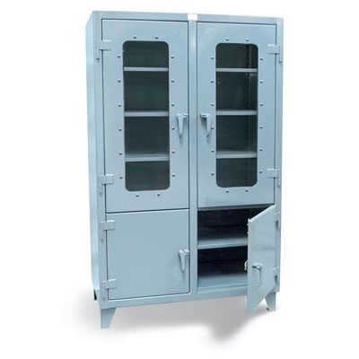 46-4DLD-248, Combination Clear View and Solid Door Cabinet, 48'W x 24'D x 78'H