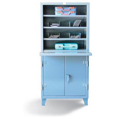 56-CMT-244, Open Shelving Unit With Lockable Storage, 60' Wide