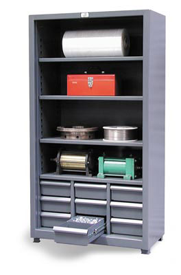 Combination Open Drawer Storage