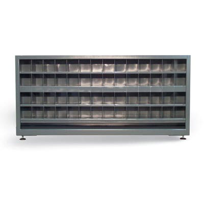 7.13.3-248-112OP, Counter-High Double Sided Metal Bin Storage Cabinet