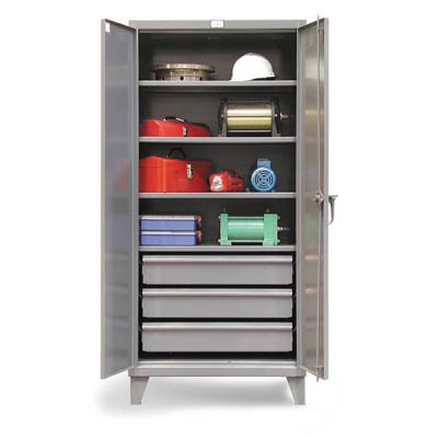 36-244-3DB, Industrial 36' Wide Cabinet With 3 Lower Drawers