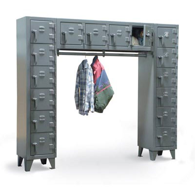 7.56-16D-WR-180, Free Standing 16 Compartment Locker