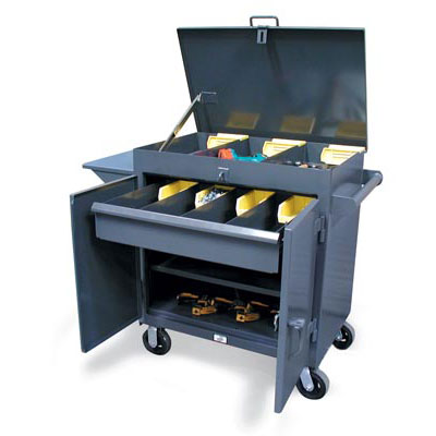 3-TC-LV-241-1DB, Mobile Tool Cart With Lift-Up Lid