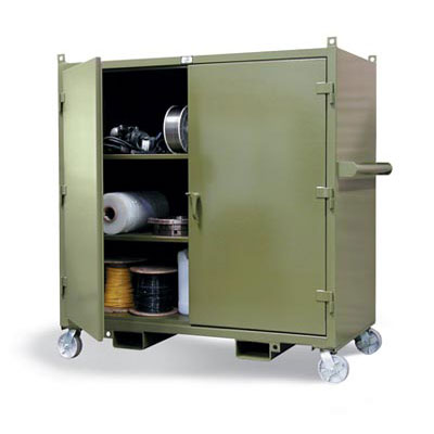 5.5342-LL-CA-FLP, Mobile Job Site Cabinet
