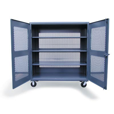 65-VB-243-CA, Ventilated Mobile Cabinet, 72'W x 24'D x 67'H