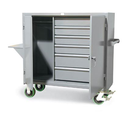 54-W-240-6DB-CA-VS, Mobile Uniform And Storage Cart