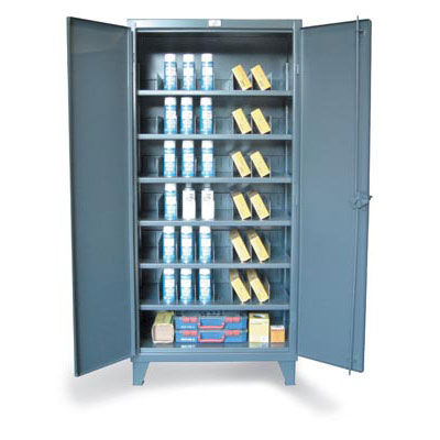 Metal Bin Storage Cabinet with Vertical Dividers