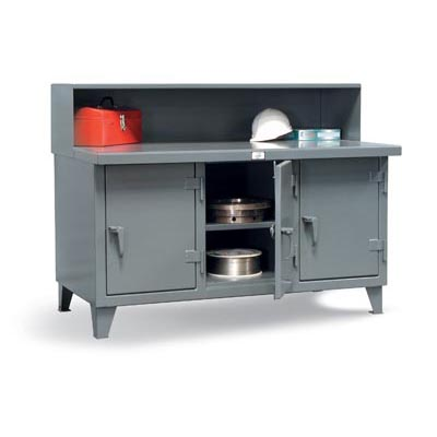 Industrial Workbench With 3 Compartments