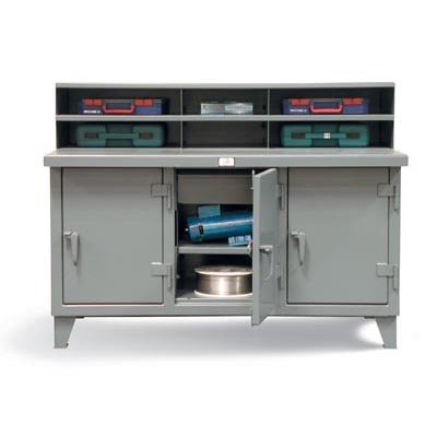 52.10-3MS-303-3DB-D, Industrial Workbench With 3 Compartments And Drawers