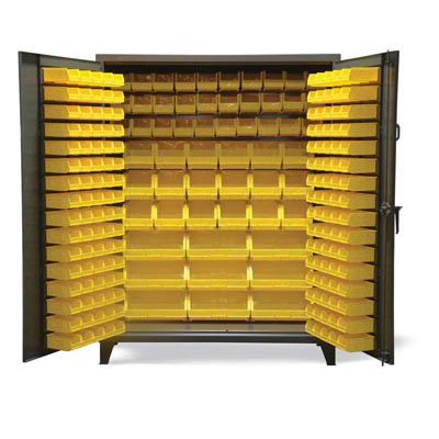 BS-15399, All Bin Cabinet with Multiple Size Bins