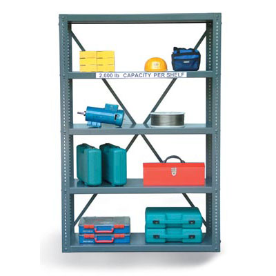 1848-72, 12 Gauge Open Shelving Unit, 48'W x 18'D x 72'H