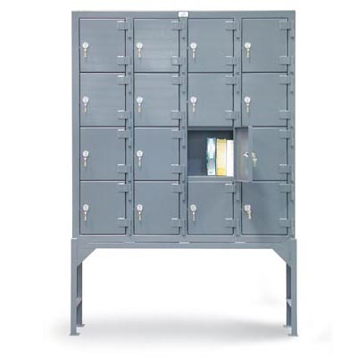 54-16D-120CL, Industrial Locker With 16 Compartments And Key Locks