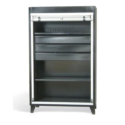 RU-15529, Roll-Up Door Cabinet with Drawers