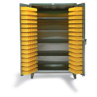 Stainless Steel 4 Shelf Bin Cabinet