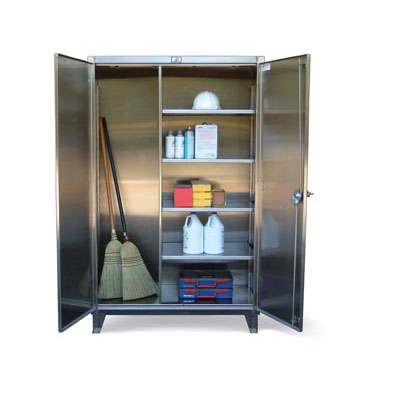 36-BC-244-SS, Stainless Steel Broom Closet Cabinet, 36'W