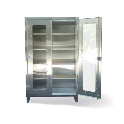 "Stainless Steel Clearview Cabinet, 60""W"