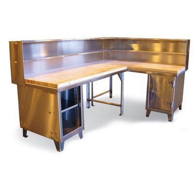 93.1-WB-360-SS-2MT, Stainless Steel Corner Workstation