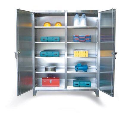 "Stainless Steel Double Shift Cabinet, 36""W"