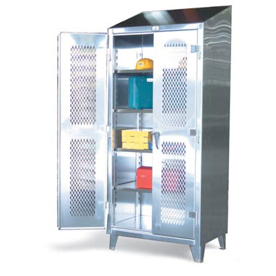 46-V-244SS, Stainless Steel Ventilated Cabinet, 48' Wide