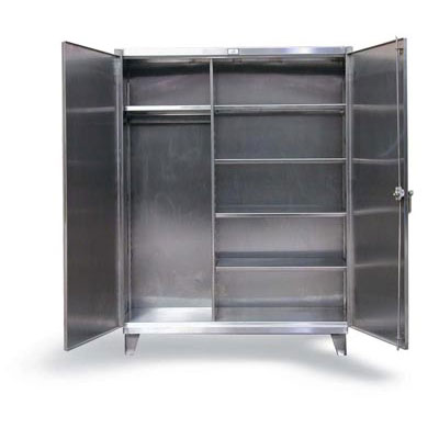 "Stainless Steel Uniform Cabinet, 48"" Wide"