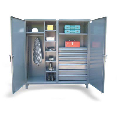 DS-15287, Double Shift Uniform / Combination Cabinet with 7 Drawers