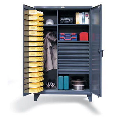46-WBD-243-7DBLD, Industrial Uniform / Wardrobe Cabinet Bin Storage And 7 Drawers